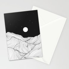 Lines in the mountains II Stationery Cards