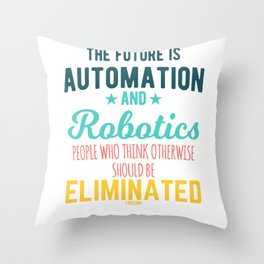 Robots Robotics children Nerd Computer Throw Pillow