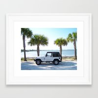 jeep Framed Art Prints featuring Jeep by Caleb Blank Photography