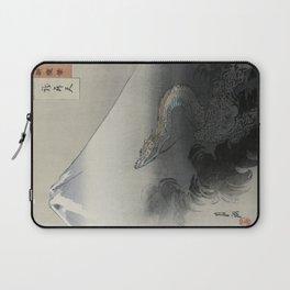 Dragon Rising to the Heavens at Mount Fuji by Ogata Gekko Laptop Sleeve