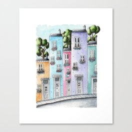 Town Houses. Canvas Print