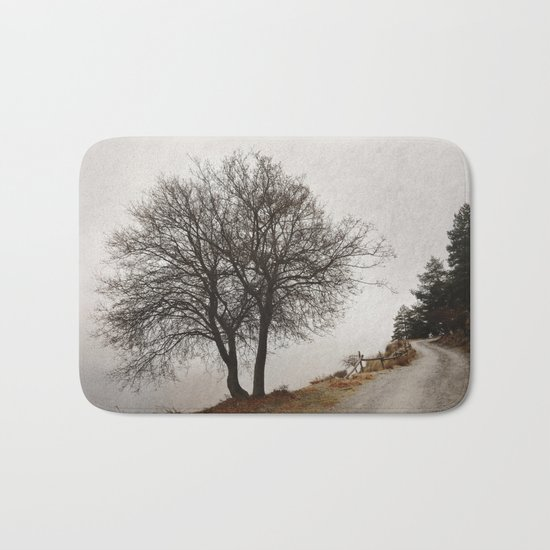 """Mountain path"". Retro Bath Mat"