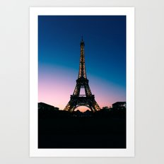 Eiffel Tower at Sunset Art Print