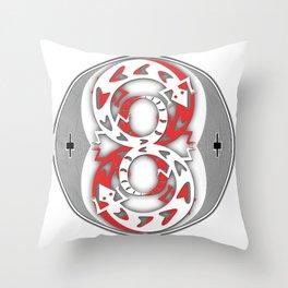 Crazy 8s Throw Pillow