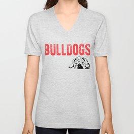 Bulldogs If Sleep Apnea Had A Mascot Unisex V-Neck