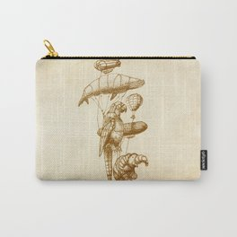 The Helium Menagerie (sepia) Carry-All Pouch