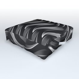GRIEVE shades of dark grey weave together to gain strength Outdoor Floor Cushion