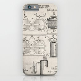 Brewery Patent - Beer Art - Antique iPhone Case
