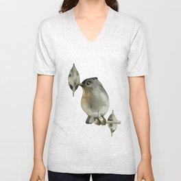 Grey Birdy Unisex V-Neck