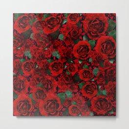 Roses on Roses Metal Print