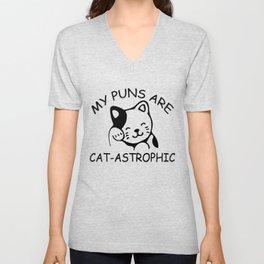 My Puns Are Catastrophic Unisex V-Neck