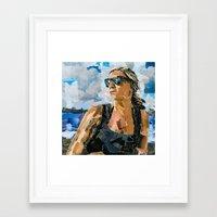 beth hoeckel Framed Art Prints featuring Beth by Maritza Hernandez