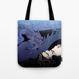 Dragon Under Moonlight Tote Bag