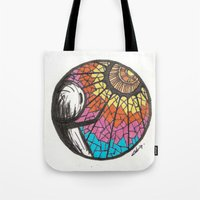 eternal sunshine of the spotless mind Tote Bags featuring Eternal sunshine of the spotless mind by grishpradip