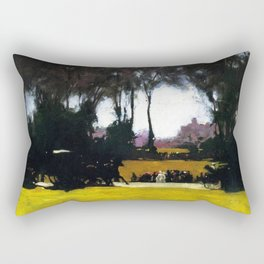 Central Park - New York City Landscape Painting by George Wesley Bellows Rectangular Pillow