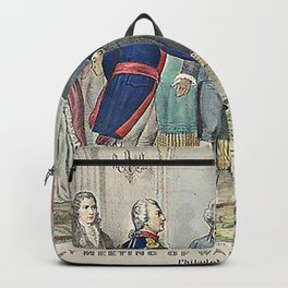 The First Meeting of Washington and Lafayette Backpack