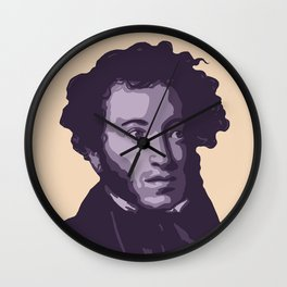 Alexander Pushkin Wall Clock