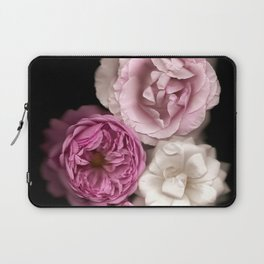 Purple, Pink, and White Roses Laptop Sleeve