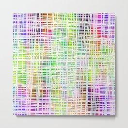 Colorful striped DP034-6 Metal Print