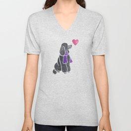Watercolour Standard Poodle Unisex V-Neck