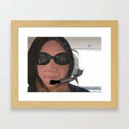 Backseat Flyer Framed Art Print