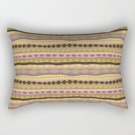 Stripey-Earthy Colors Rectangular Pillow
