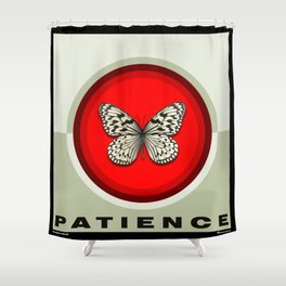 Fruit of the Spirit, Patience (Red & Ecru) Shower Curtain