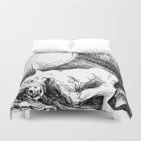 bull Duvet Covers featuring Bull by Pérola M. Bonfanti