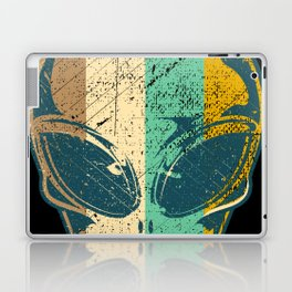 Vintage Retro Alien Spaceship Abduction Martian Gift Laptop & iPad Skin