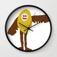 birdman Wall Clocks featuring Surreal Birdman by SlugBoy