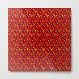 Muster Herzen 1 - Pattern Hearts 1 Metal Print