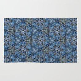 swirl blue pattern Rug