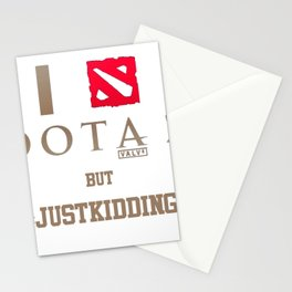 dota2 for gamers Stationery Cards