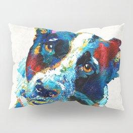 Colorful Dog Art - Irresistible - By Sharon Cummings Pillow Sham