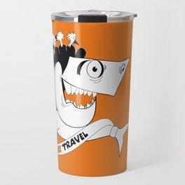 happy travel shark Travel Mug