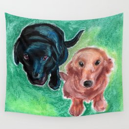 Puppy Eyes Wall Tapestry