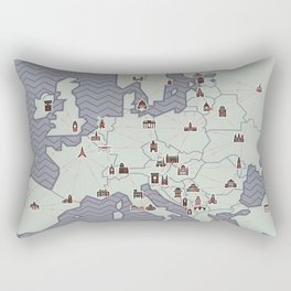 European Capitals - Map Rectangular Pillow