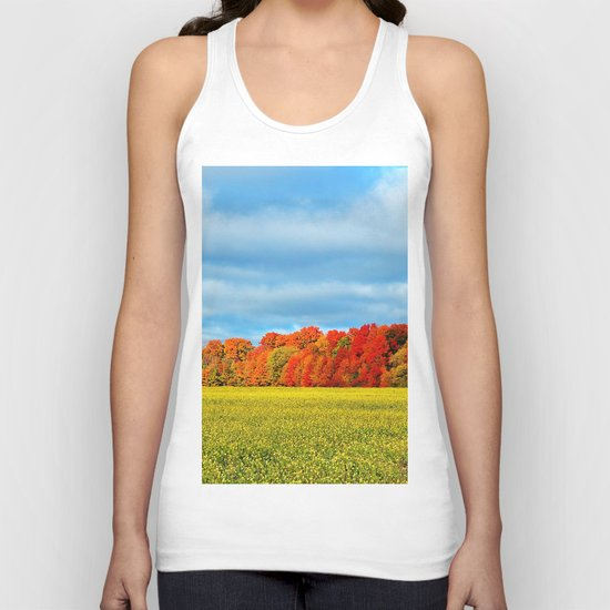 The Field and the Forest in October Unisex Tank Top