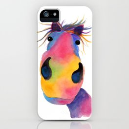 Happy Horse ' PeNeLOPE PiMMs ' by Shirley MacArthur iPhone Case