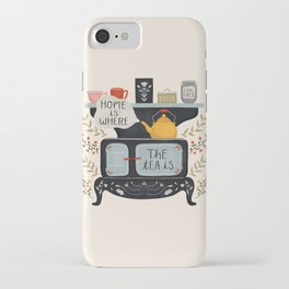 Home Is Where the Tea Is iPhone Case