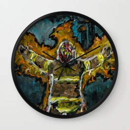 Fire Fighter Phoenix Wall Clock
