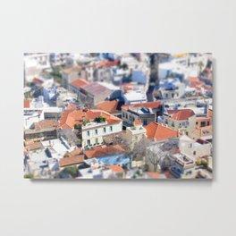 Tiny Greece: Villas Metal Print