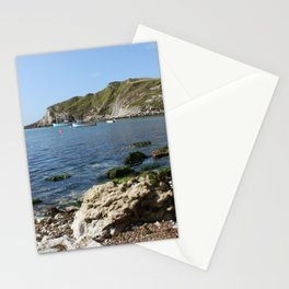 Lulworth Cove boats Stationery Cards