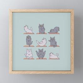 British Shorthair Cat  Yoga Framed Mini Art Print