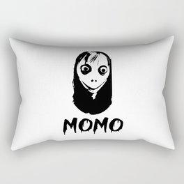 Momo scary myth logo Rectangular Pillow