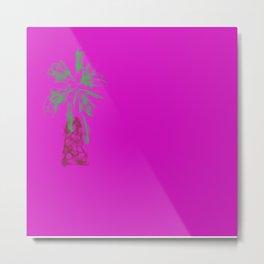 Palm tree in neon Metal Print