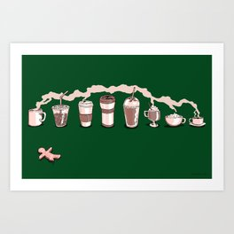 Coffee Holiday Art Print