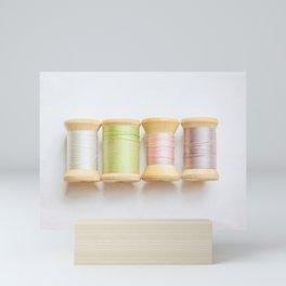 Pastel Spools of Vintage Thread Mini Art Print