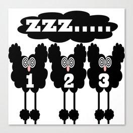 sheep sleep Canvas Print
