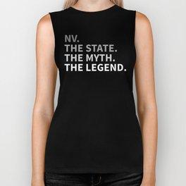 Nevada The State The Myth The Legend Biker Tank